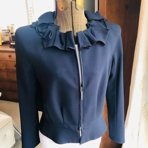Giorgio Armani Ruffled Collar Jacket